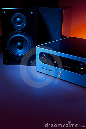 CD receiver and speakers