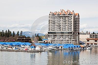 CDA Hotel and Marina Editorial Photo