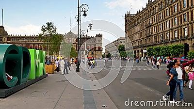CDMX symbol w Historycznym centrum Meksyk zdjęcie wideo