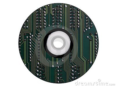 Cdrom made from an electronic scheme