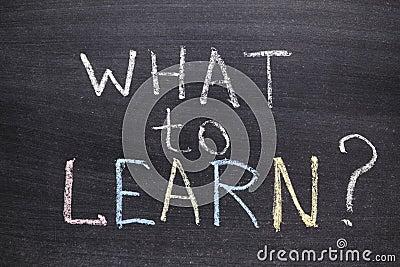 Ce qui à apprendre