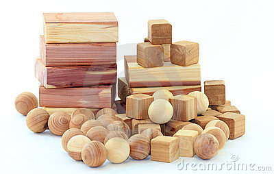 Cedar Wood Blocks and Balls