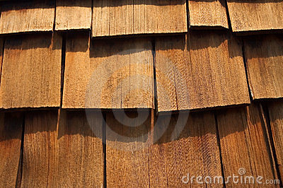 Cedar Wood Shingles Up-Close
