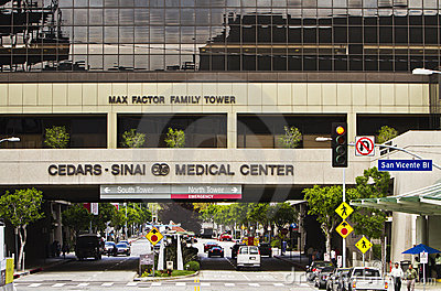 Cedars Sinai Medical Center In Los Angeles Editorial Stock Image