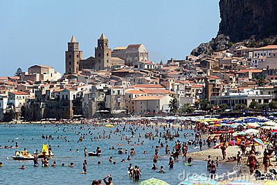 Cefalu, Sicily Editorial Stock Image