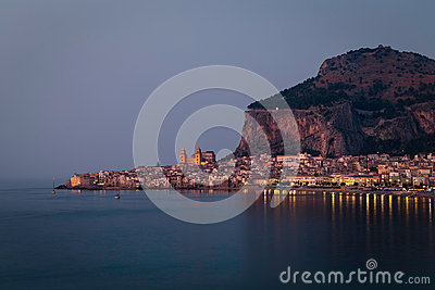 Cefalu. small historic town in the Sicily Stock Photo