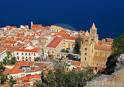 Cefalu, traditional landmark in Sicily