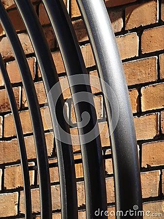 Ceglana budów metalu ściana