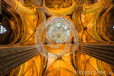 Ceiling Cathedral Santa Eulalia in Barcelona