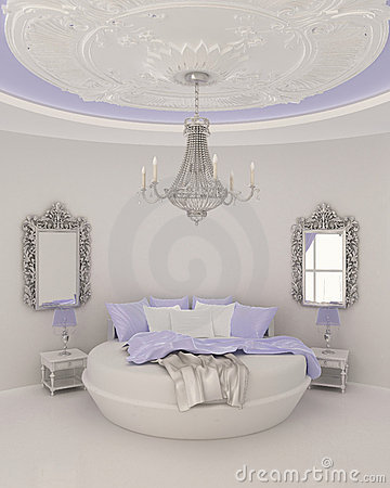 Free Ceiling Decor In Modern Bedroom Royalty Free Stock Images - 17650949