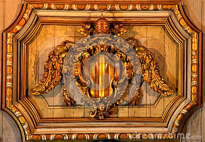 Ceiling decoration in a church in Rome