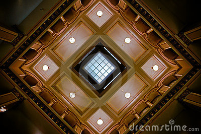 Ceiling detail in historic train station