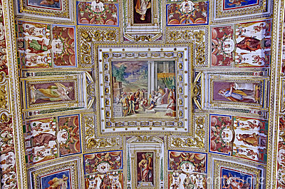 Ceiling details in Vatican Museum Editorial Photo
