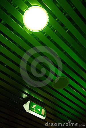 Ceiling and exit sign