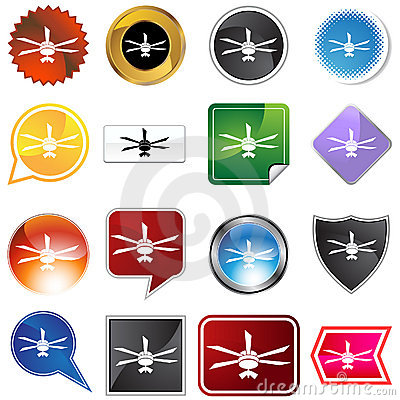 Ceiling fan icon set