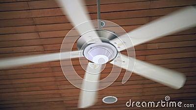 Ceiling Fan Spinning In Slow Motion Stock Video Video