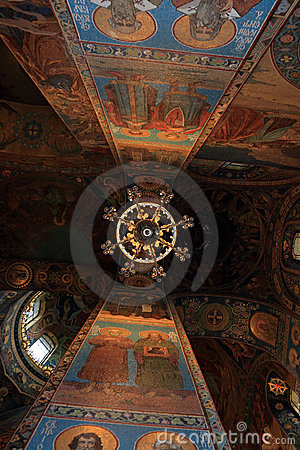 Ceiling of gilded church