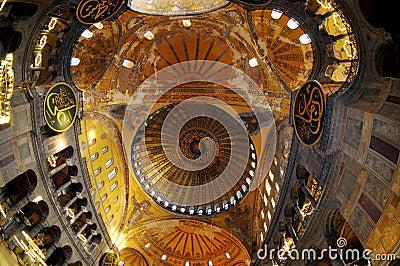 Ceiling in The Hagia Sophia Church