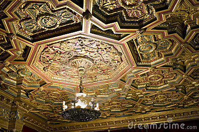 Ceiling, Hearst Castle Editorial Photography