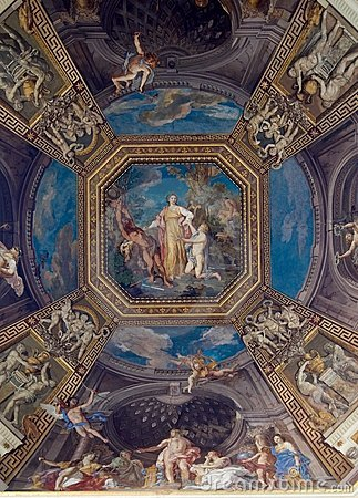 Free Ceiling In Hall. Vatican Museums Royalty Free Stock Photos - 5922088
