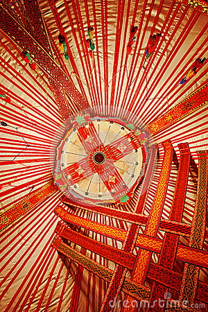 Ceiling of Kazakhstan Yurt