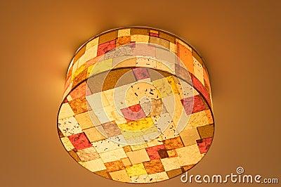 Ceiling lamp, tartan