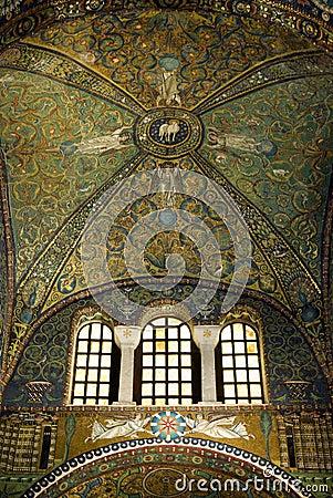 Free Ceiling Mosaics The Basilica Of San Vitale Stock Image - 62370921