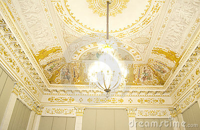 Ceiling of Russian museum in high key