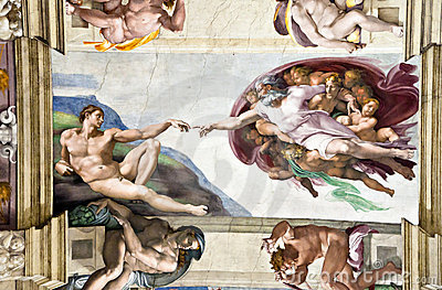 Ceiling in the Sistine Chapel Editorial Photo