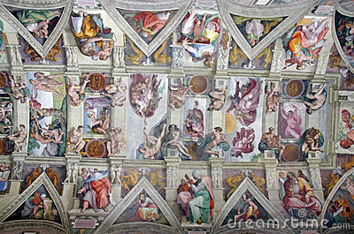 Ceiling in the Sistine Chapel Editorial Photography