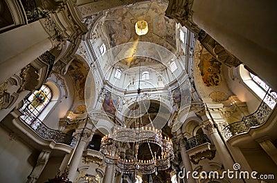 The ceiling of St. Nicholas Church, Prague