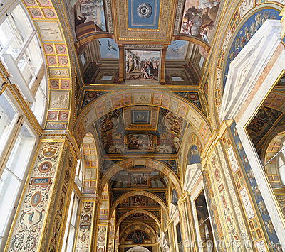 Ceiling in State Hermitage museum Editorial Photography