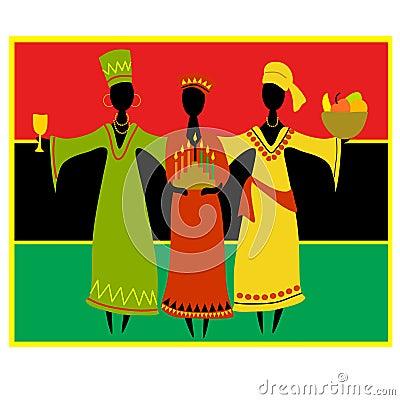 Celebração cultural de Kwanzaa