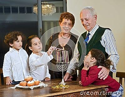 Celebração de Hanukkah