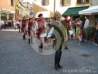 Celebración de las Edades Medias Foto de archivo editorial