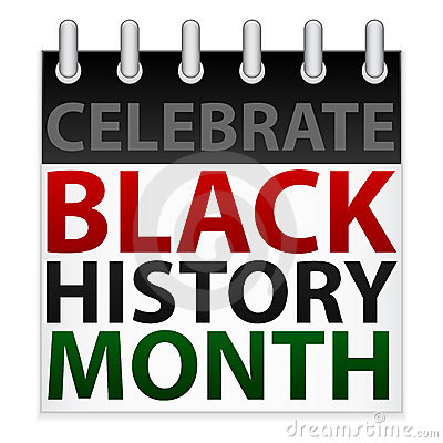 ... of a calendar icon in celebration of Black History Month in February