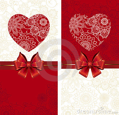 Celebrate bow background with heart.