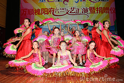 Celebrate Children s Day:dance performance Editorial Stock Image