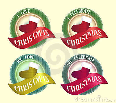 Celebrate Christmas Symbol Badge Icon Logo Design