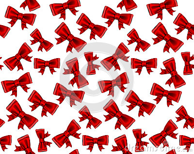 Celebrate seamless background of red bows.