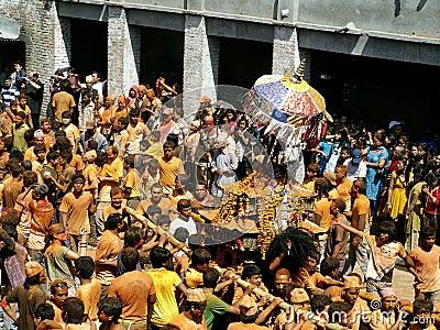 Celebrating  Bisket Jatra  Editorial Image