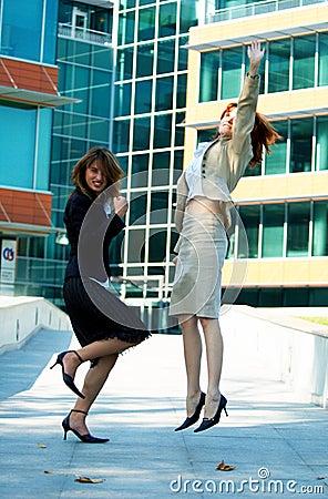 Free Celebrating Businesswomen Royalty Free Stock Images - 1359499
