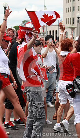 Celebrating Canada Day in Ottawa Editorial Photo