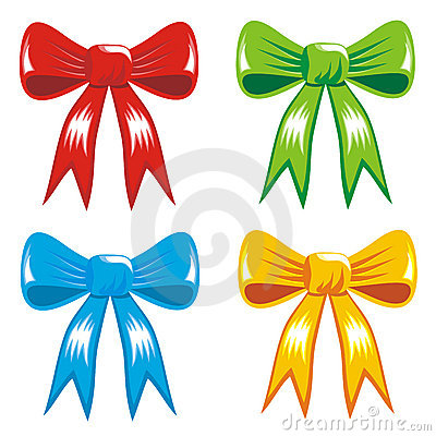 Celebrating color gift, ribbon, bow