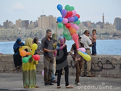 Celebrating the Feast in Egypt Editorial Stock Image