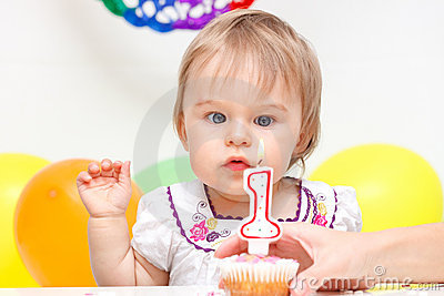 Celebrating first birthday