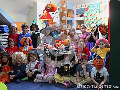 Celebrating Halloween Editorial Photo
