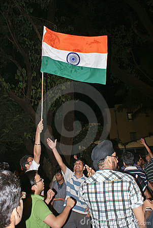 Celebrating India s win in ICC World Cup Finals Editorial Photography