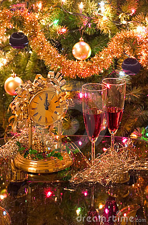 Free Celebrating New Year (christmas) Royalty Free Stock Image - 401036