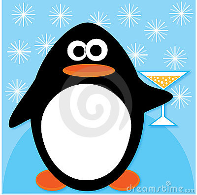 Celebrating penguin